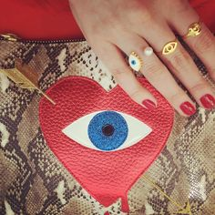 Clutch and rings #evileye
