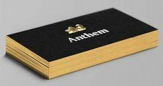 Cartão de Visita preto com dourado