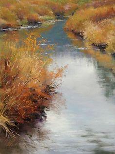 artist Phil Bates, soft pastel landscape painting