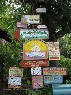 Great directional signs in Asia of Disney's Animal Kingdom.  Definitely worth your time to read them.