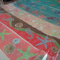 Hand painted silk scarves by Laurie Pyszkowski