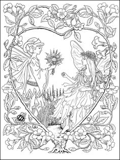 Fairies Coloring Book Samples | Ruth Sanderson