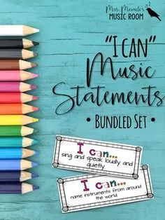 "Looking for ""I Can"" statements or learning objectives to post in your music classroom? Need a way to keep track of which statements you've covered throughout the year? This product is a bundled set of six grade-level ""I Can"" statements! Kindergarten Music, Kindergarten Lesson Plans, Teaching Music, Learning Piano, Piano Lessons, Music Lessons, Music Education Quotes, I Can Statements, Learning Objectives"