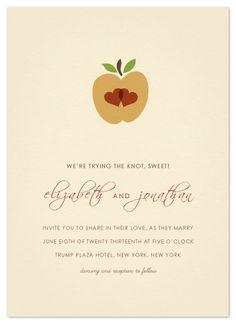 wedding invitations - Apple of my Eye by Ana Gonzalez