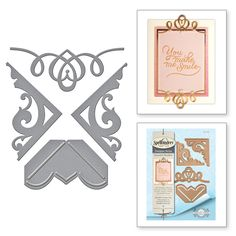 S4-709 Graceful Corners One Card Creator Amazing Paper Grace by Becca Feeken Etched Dies