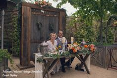 Madam Palooza enjoyed creating for this lovely couple at The Meadows at Temecula Creek Inn and every detail was considered. The bride used our barn doors not only for the bridal party to enter but she also wanted them behind her sweetheart table during the reception.   Rentals & Styling: Madam Palooza  Coordinator: Michelle Garibay Events  Photography: Tender Shootz Photography