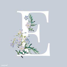 Fonte Alphabet, Monogram Wallpaper, Main Image, Stylish Alphabets, Flower Letters, Letter E, White Letters, Free Illustrations, Purple Flowers