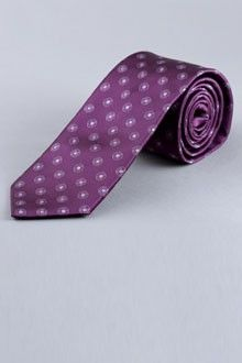 Purple bulls-eye tie from Indochino