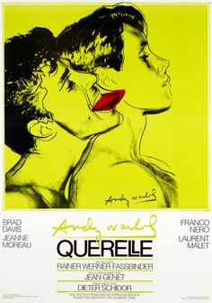 Andy Warhol, poster design for movie Querelle by Rainer Werner Fassbinder, based on Jean Genet's book, 1982. Source