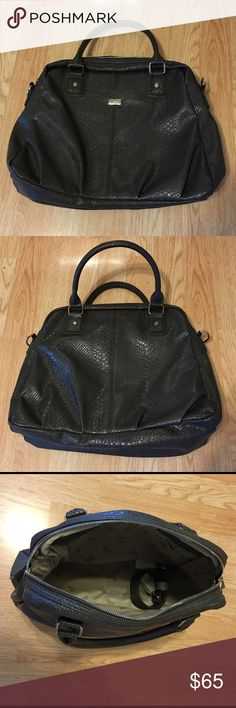 Thirty-One Couture Street Bag Couture Street Purse   couture street features zipper closure, includes chunky shoulder strap, exterior hidden cell phone pocket, two interior flat pockets. Pattern:   City charcoal snake Thirty-One Bags Shoulder Bags