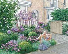 Blütenmix in weiß, rosa und violett für den Vorgarten