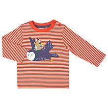 Buy John Lewis Baby Flying Owl Mouse T-Shirt, Orange/White Online at johnlewis.com
