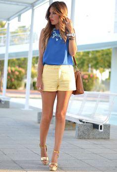 light yellow shorts