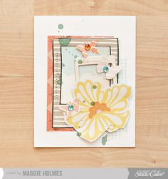 Floral & Butterfly Card by maggie holmes > Studio Calico June Kits
