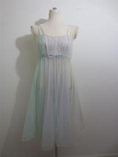 Vintage 3 Color Chiffon Gown
