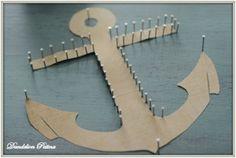 string art tutorial - Dandelion Patina