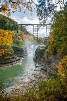 Letchworth State Park is a New York state park  35 miles (56 km) southwest of Rochester.  Its nickname is Grand Canyon of the East.  The Genesee River flows through the park.  Letchworth by richkolasa.