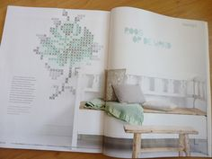 Want to make this cross stitch rose (from Eline Pelinkhof) on the wall of our bedroom.