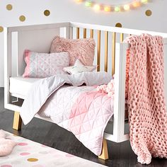 Addison Quilted Pale Pink Cot Quilt Cover Set