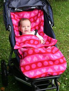 fleece stroller cover - way better than a blanket that keeps falling off