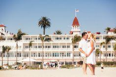 California Beach Engagement Hotel del Coronado Bride Groom Pose Photos by POPography.org