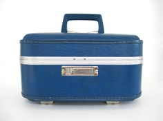 Vintage Train Case Make Up Carry On Suitcase by BrooklynStVintage, $24.00