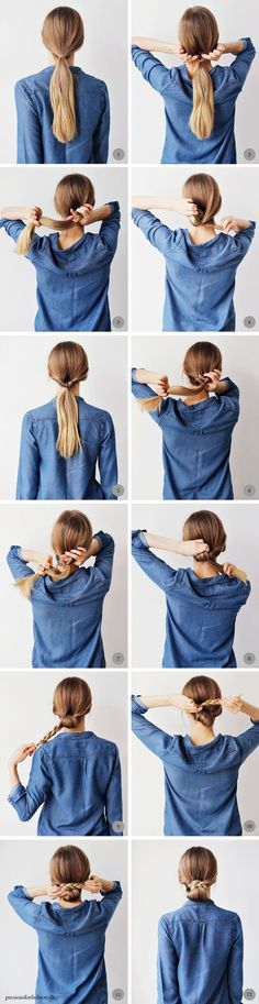 braided low chignon tutorial