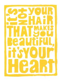 Your Beautiful Heart  - Cancer Inspired Yellow 8x10 Linocut Print