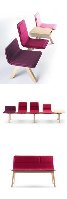 Laissez Bench, modular seating system by Jean Louis Iratzoki