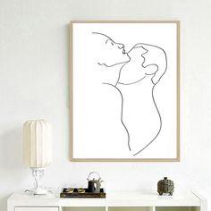 Art Drawings Sketches Simple, Pencil Art Drawings, Abstract Line Art, Abstract Print, Black Wall Art, Line Art Design, Trending Art, Woman Art, Pastel Art