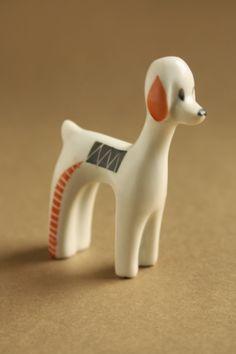 Art deco porcelánok: Kutyus - Herendi porcelán