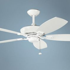 "52"" Canfield Kichler ENERGY STAR White Ceiling Fan"