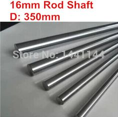 2pcs 16mm - 350mm Chrome Plated Cylinder Linear Rail Round Rod Shaft Linear Motion Shaft #Affiliate
