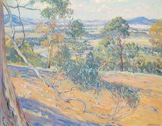 Hilda Rix Nicholas - Canberra from Red Hill 1926 Australian Painting, Australian Artists, Nz Art, Installation Art, Impressionist, Sculpture, Paris, Explore, Portrait