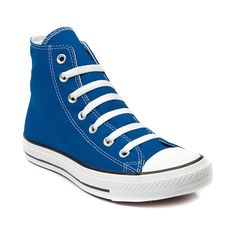 Shop for Converse All Star Hi Sneaker in Snorkel Blue at Journeys Shoes. Shop today for the hottest brands in mens shoes and womens shoes at Journeys.com.The original Old School athletic shoe is still cool. Some things dont change because they dont need to. Canvas upper.  Available only at Journeys!Please note that this shoe runs a half size large.