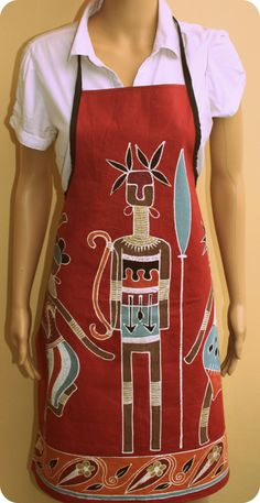 Love this Apron, hand painted on  cotton.
