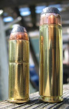 Left: .44 Remington Magnum   Right: .500 Smith & Wesson Magnum