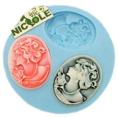 F0012 3-hole Silicone Mini Molds for Resin Pendant Mold Jewlery Mold Silicone Molds for Expoxy Craft Silicone Badge Molds Chpcolate Molds. $2.20, via Etsy.