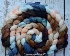 Polwarth 'Chincoteague' 4 oz hand dyed roving wool
