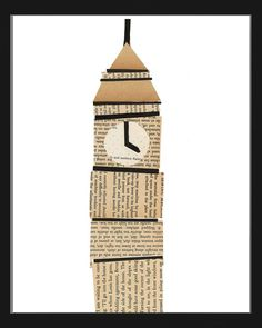 newspaper big ben by paste sf Big Ben, Theme Anglais, Projects For Kids, Crafts For Kids, London Activities, Around The World Theme, Great Fire Of London, London Landmarks, Famous Landmarks
