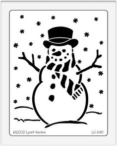 Brass Stencil Christmas Snowman  From Plaid Simply