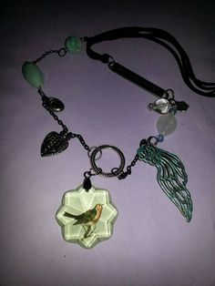 On the Wings of a Bird by MADDjewels on Etsy, $25.00
