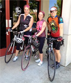 It's Bike to Work Day! Here's some of the Buff USA staff walkin' the walk...or rather...ridin' the ride!
