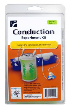 Explore the conduction of electricity. Kit contains: 2 D-cell battery holders, bulb holder, light bulb, alligator conector cords, sample pack, and instructions. batteries and soda not included.