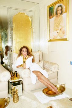 Marisa Berenson At Home in Marrakech - Marisa Berenson Spa // Photography by Hugues Laurent // Styled by Patrick Mackie