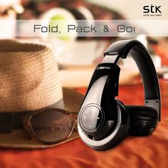 Fold, Pack & Go! This #weekend carry your favourite music with you, #STKAccessories BTHS800 #Bluetooth Headphone's unique folding design makes it easy to pack and carry!