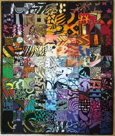 African colorwash quilt by Wanda Hanson  looking for a quilt to make with my Ghanaian fabrics - this is a contender