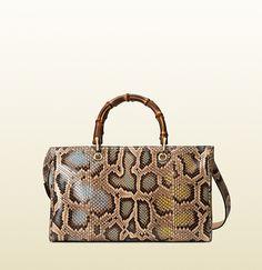 Gucci Bamboo Mulicolor Shopper Python Tote; $3,200.00