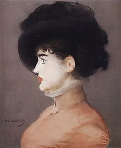 Édouard Manet Irma Brunner in a Black Hat, (The Viennese), c. pastel on paper, Louvre, Paris. Between 1879 and Manet produced a stunning series of pastel portraits of women. Edouard Manet, History Of Modern Art, Art History, Renoir, Portraits Pastel, Berthe Morisot, Peter Paul Rubens, Art Graphique, Oeuvre D'art