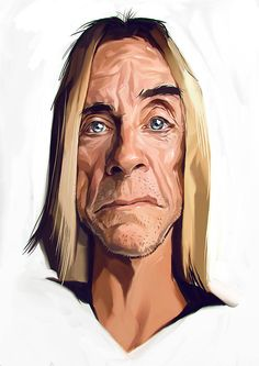 Why Iggy, you have never looked better ... Cricatures of Movie and Music Stars on Behance The portraits... - mdolla